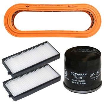 فیلتر هوا خودرو سرعت فیلتر مدل C326 مناسب برای تیبا به همراه دو عدد فیلتر کابین و فیلتر روغن