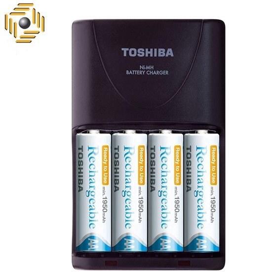 main images شارژر باتری توشیبا مدل TNHC-VE 64MC به همراه 4 عدد باتری قلمی