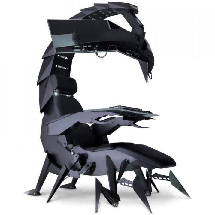 تصویر صندلی COOLBABY TKC Zero Gravity Imperator COOLBABY TKC Zero Gravity Imperator Works Computer Ergonomic Scorpion Integrated Cockpit Gaming Chair,Black