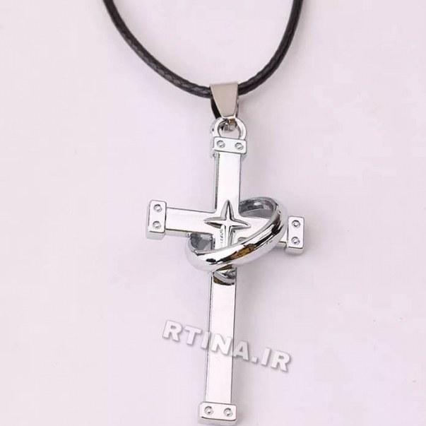 تصویر گردنبند صلیب با حلقه دخترانه/پسرانه مدل RT-Z02