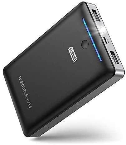 تصویر شارژر قابل حمل RAVPower 16750mAh باتری شارژر باتری، بسته باتری تست شده با دو پورت USB 2.0 و iSmart 2.0، حداکثر قدرت خروجی 4.5A برای سوئیچ نینتندو، دستگاه های iPhone و Android Portable Charger RAVPower 16750mAh Power Bank, Time-Tested USB Battery Pack with Dual 2.0 USB Ports/Flashlight, 4.5A Max Output Cell Phone Charger Battery for iPhone/Android Devices