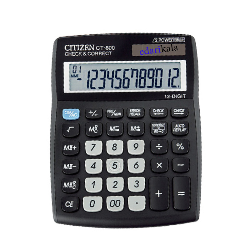 عکس ماشین حساب مدل CT-600J سیتیزن CT-600J Citizen Calculator ماشین-حساب-مدل-ct-600j-سیتیزن