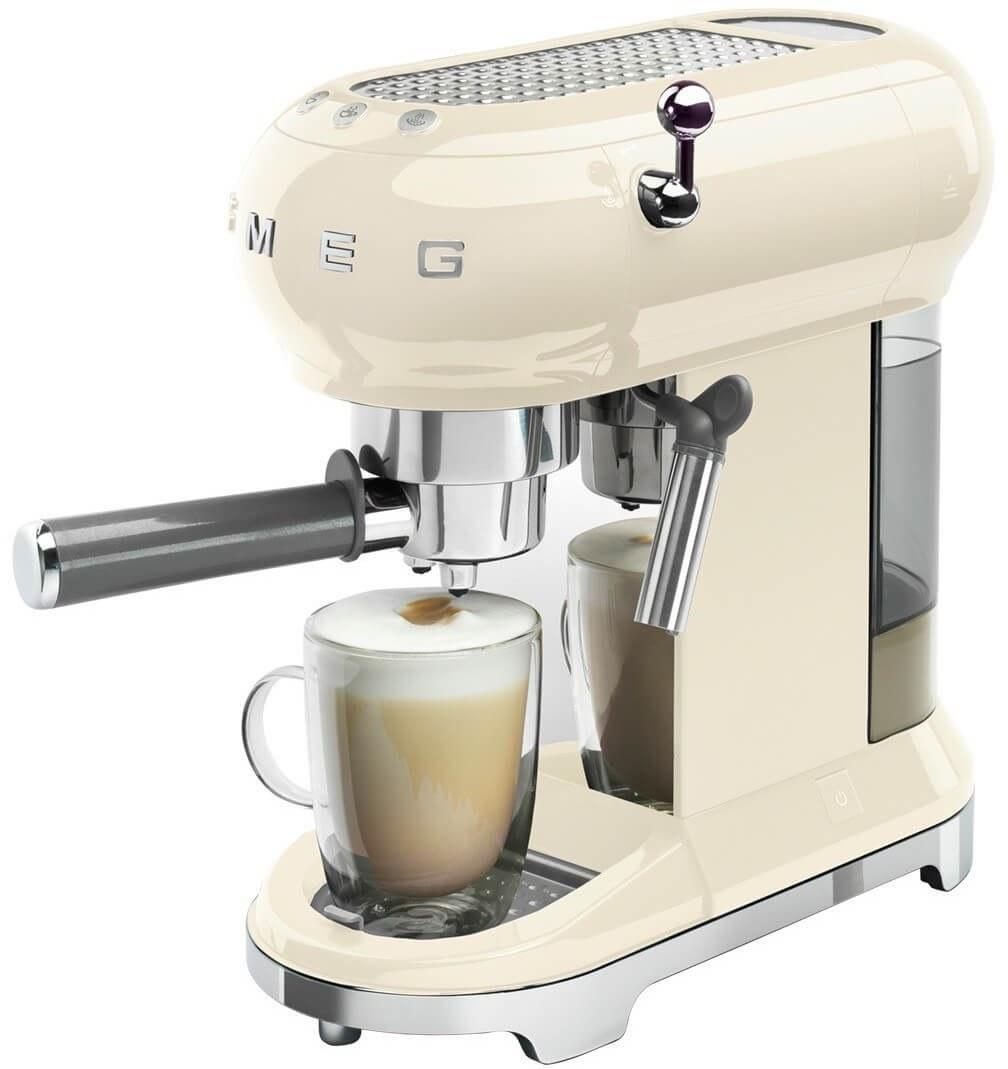 تصویر اسپرسو ساز اسمگ ایتالیا Smeg Espressomaschine ECF01CREU