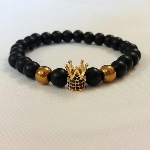 عکس دستبند سنگ و تاج طلایی پسرانه دخترانه سواروسکی  دستبند-سنگ-و-تاج-طلایی-پسرانه-دخترانه-سواروسکی