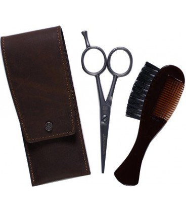 تصویر قیچی و شانه سبیل دوو Dovo Beard and Moustache Scissor Set - Comb/Brush Custom