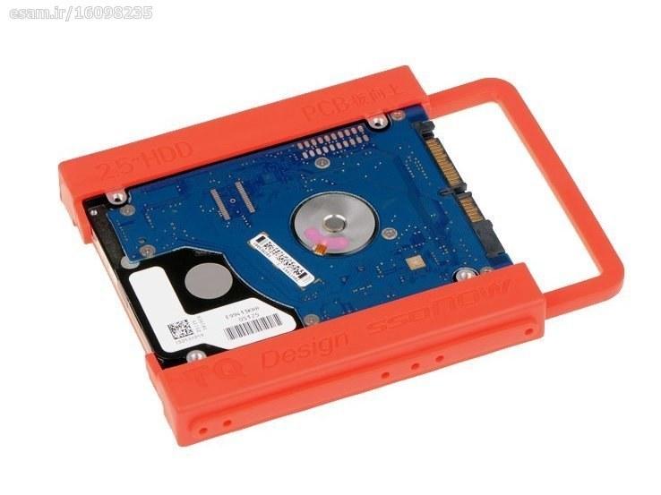 تصویر براکت هاردهای 2.5 اینچ و SSD پلاستیکی مناسب برای اتصال هارد های 2.5 اینچی به کیس کامپیوتر و ...