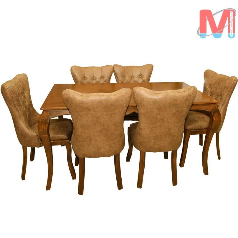 عکس میز ناهار خوری 6 نفره چستر  میز-ناهار-خوری-6-نفره-چستر