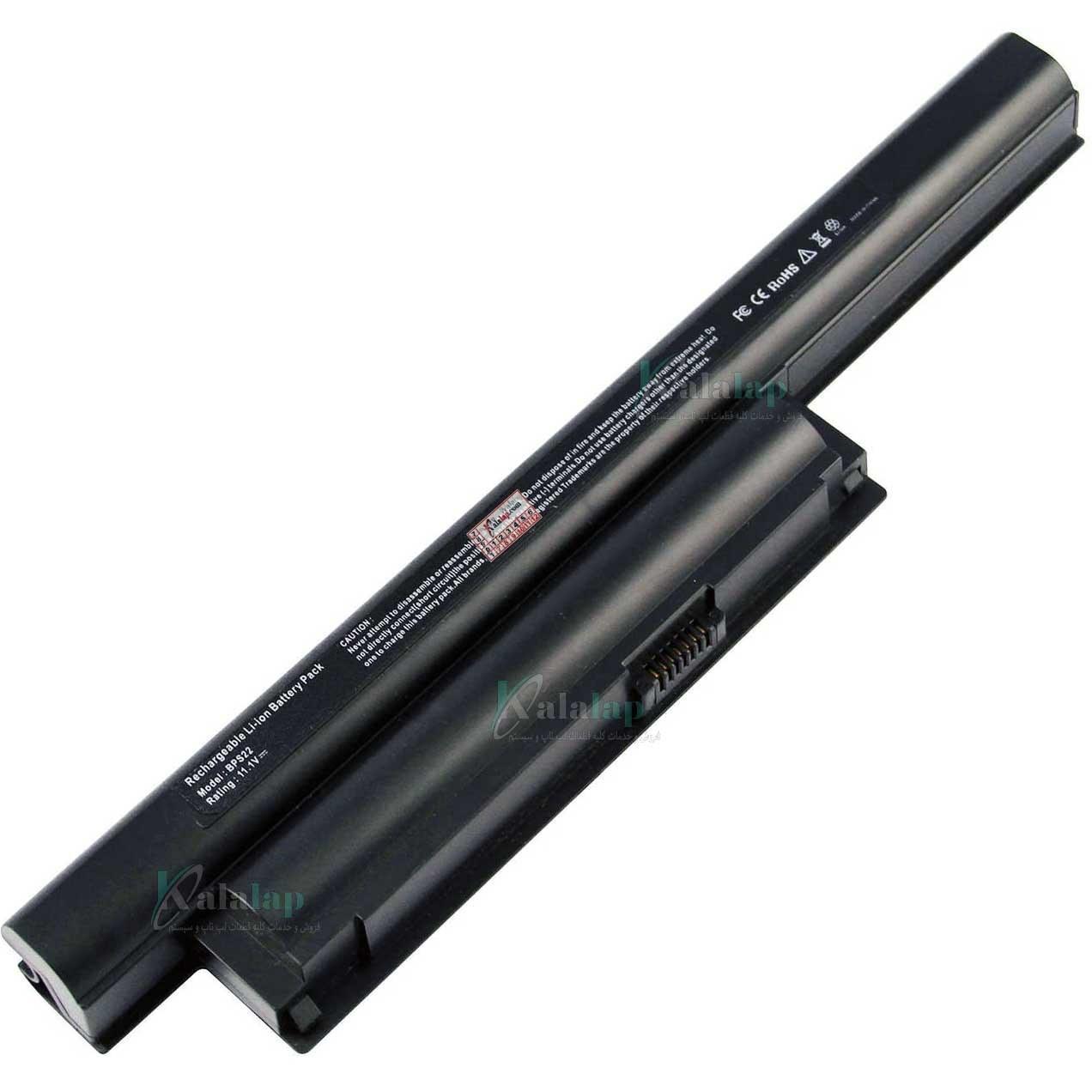 تصویر باتری لپ تاپ سونی BPS22 Battery Laptop Notebook Sony Vaio VGP-BPS22 VGP-BPS22A VGP-BPL22 VGP-BPS22/A Sony VAIO VPC-E1Z1E VAIO VPC-EA VPCEA24FM VPCEE22FX VPCEE23FX