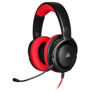 هدست گیمینگ کورسیر HS35 Stereo Red Color