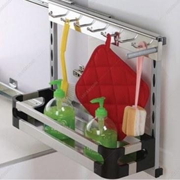 تصویر سوپر مواد شوینده زیر سینکی متصل به بدنه استیل فانتونی مدل F052 Fantoni F052 Cabinet basket