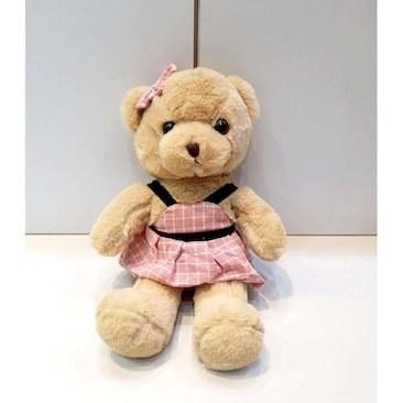 عروسک پیکولو مدل خرس دختر لباس دار ارتفاع 28 سانی متر |