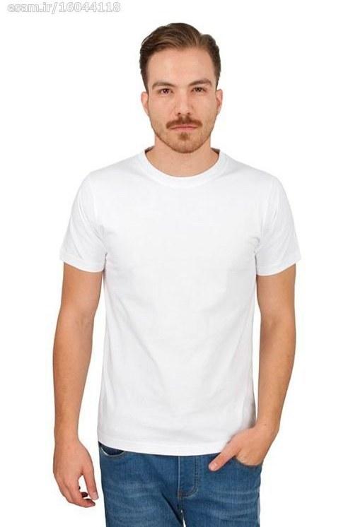 تیشرت مردانه ساده سفید