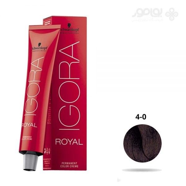 تصویر رنگ موی تیوبی ایگورا رویال قهوه ای متوسط شماره IGORA ROYAL 4-0