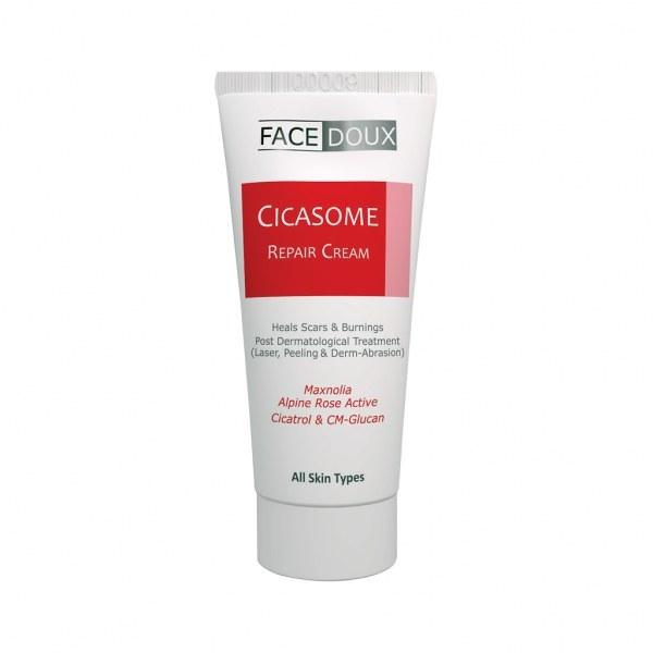 تصویر کرم ترمیمکننده سیکازوم فیس دوکس برای انواع پوست ۳۰میلی لیتر Facedoux Cicasome Repair Cream 30ml