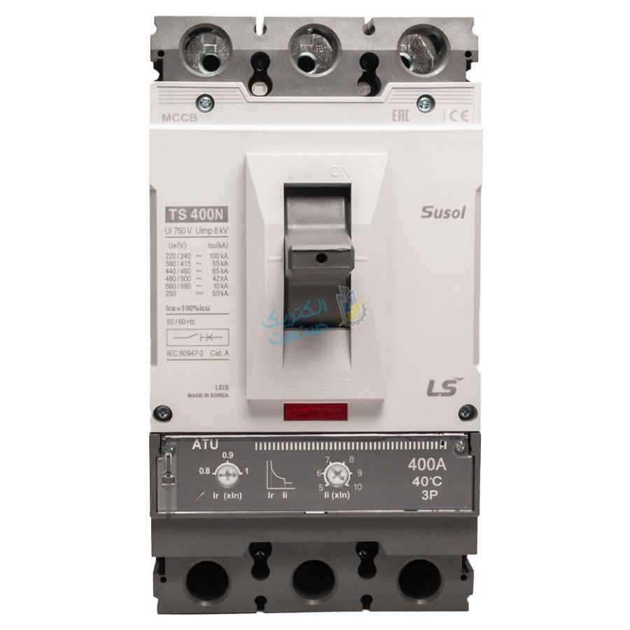 تصویر کلید اتوماتیک،کمپکت 400 آمپر،قابل تنظیم حرارتی-مغناطیسی LS سری SUSOL