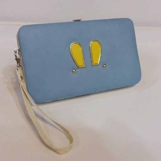 کیف مانیکوری آبی لاکچری |