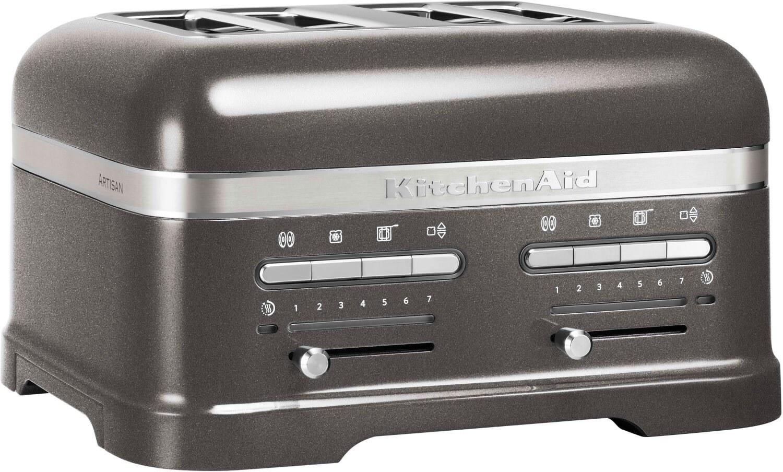 تصویر توستر اتومات دوقلو کیچن اید آمریکا KitchenAid 5KMT4205EMS Artisan 4-Schlitz Toaster medallion silber
