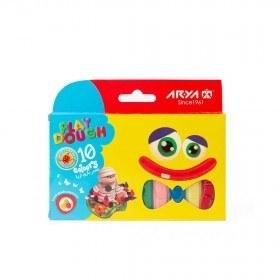 تصویر خمیر بازی 10رنگ مقوایی آریا کد 1048 Arya ۱۰۴۸ Play Dough - ۱۰ colors