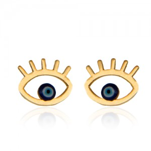 گوشواره طلا زنانه طرح چشم نظر کد ce335 |