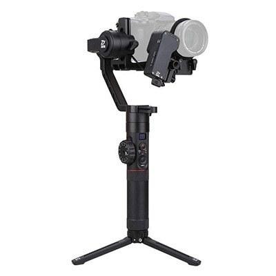 تصویر پایه لرزش گیر دوربین تکدسته سه محوره ژیون مدل Crane ۲ به همراه Follow Focus Zhiyun CRANE 2 with Follow Focus Handheld Stabilizer