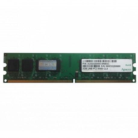 تصویر رم کامپیوتر اپیسر Apacer DDR2 800MHz ظرفیت 2 گیگابایت