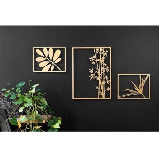 تابلو فلزی طرح گل سه تیکه