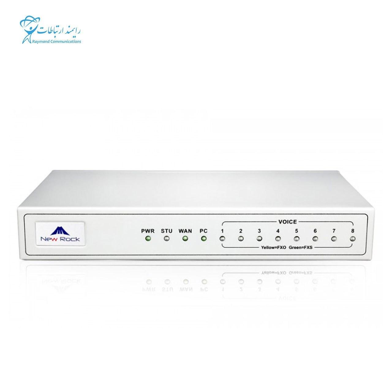 تصویر گیت وی تلفن آنالوگ به آی پی (FXO) نیوراک Newrock MX8G-8FXO Newrock MX8G-8FXO Analog IP Phone (FXO) Gateway