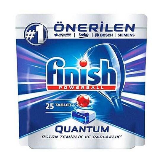 تصویر قرص ماشین ظرفشویی فینیش مدل Quantum بسته 25 عددی