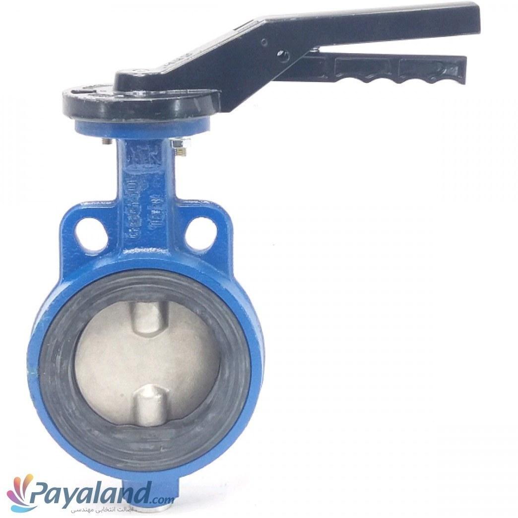 """تصویر شیر پروانه ای زبانه استیل """" 4 میراب PN16 EPDM با تحمل حرارت 120درجه"""