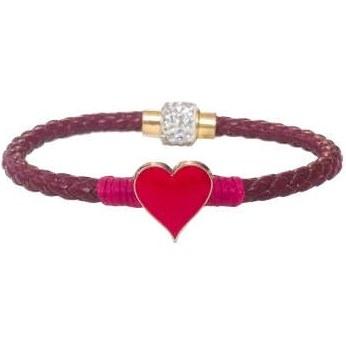 دستبند زنانه چرم وارک طرح قلب مدل پرهام کد rb61