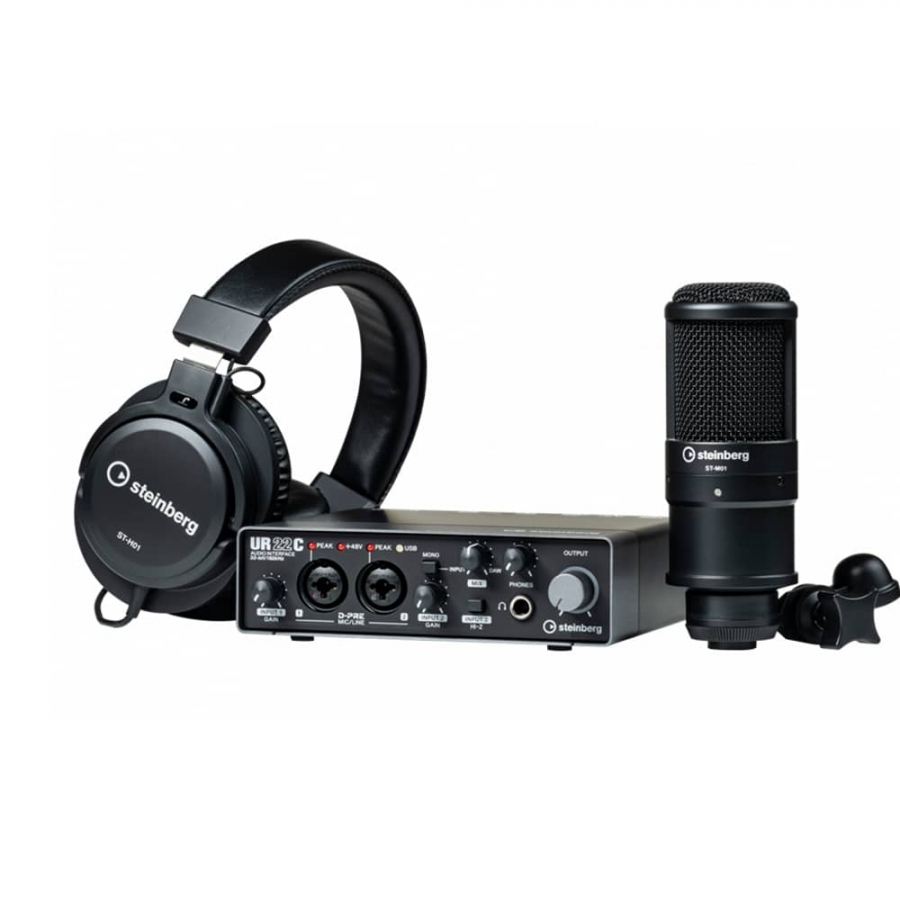 تصویر پکیج استودیویی اشتاینبرگ Steinberg UR22C Recording Pack آکبند