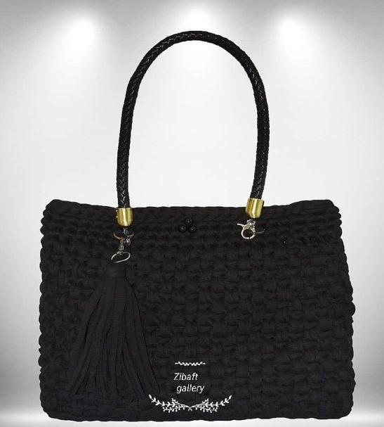 کیف تریکو دستبافت طرح آروند