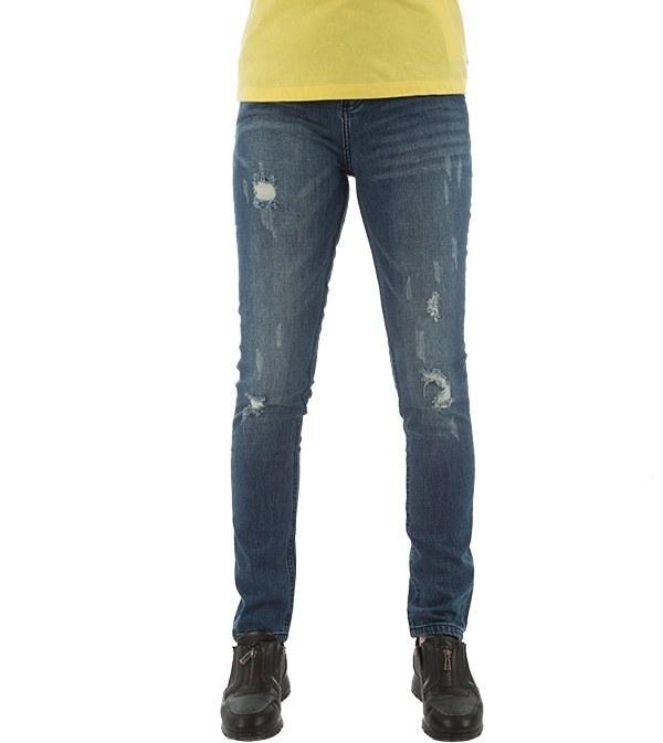 شلوار زنانه جین راسته زاپ دار جین وست Jeanswest