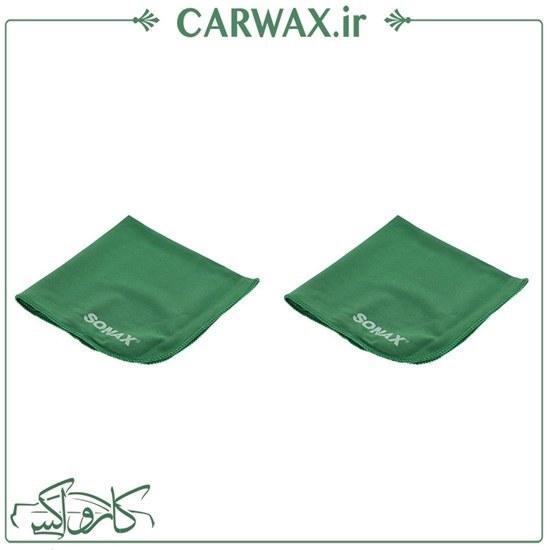 تصویر دستمال میکروفایبر سوناکس Sonax Microfiber Cloths Pkg/2