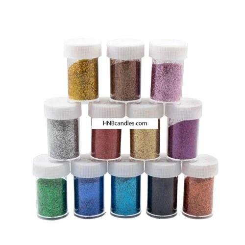 تصویر اکلیل نمکدانی جهت تزئین شمع 12 رنگ