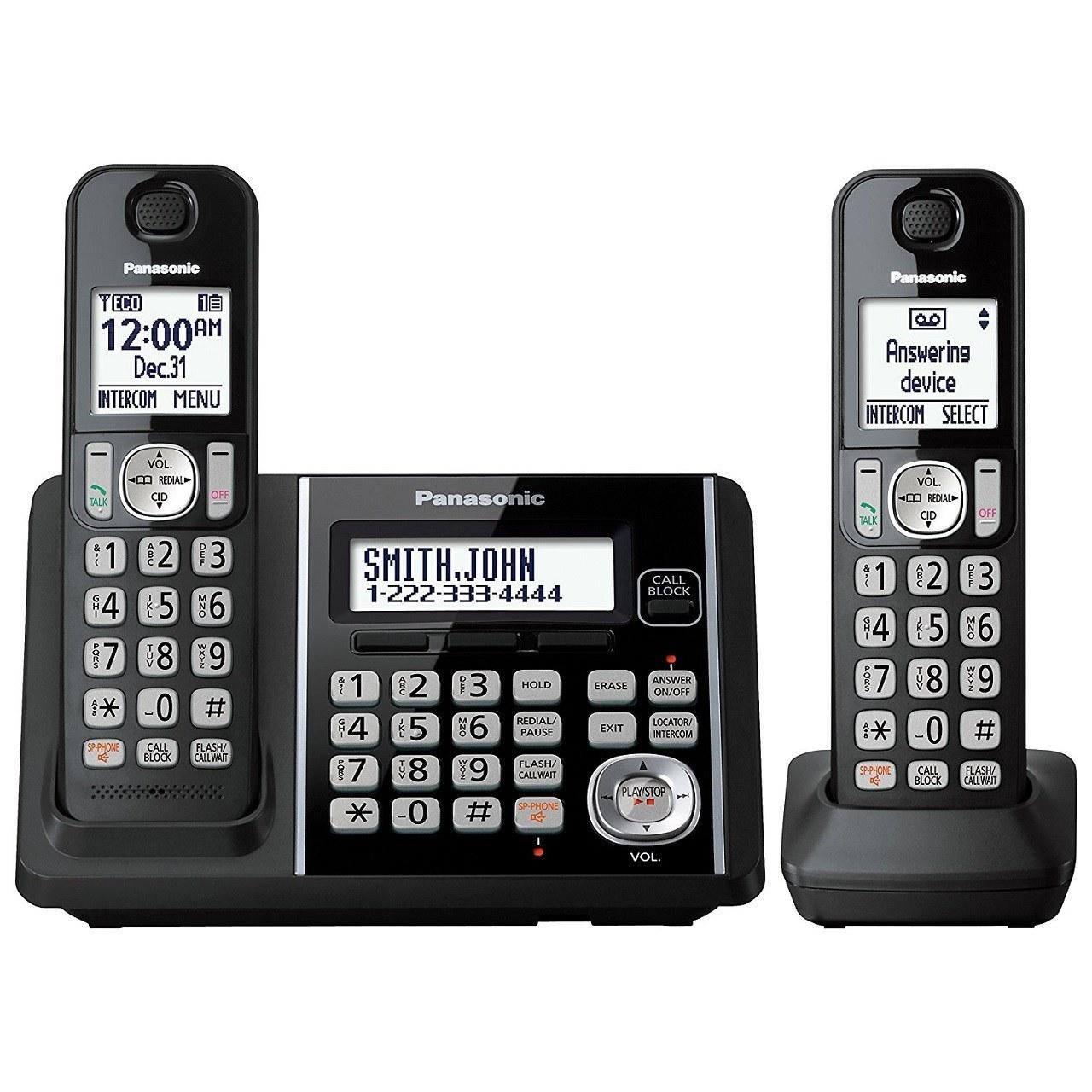 تصویر تلفن بی سیم دو گوشی پاناسونیک مدل KX-TG3752 Panasonic KX-TG3752 Wireless 2 Handsets Telephone