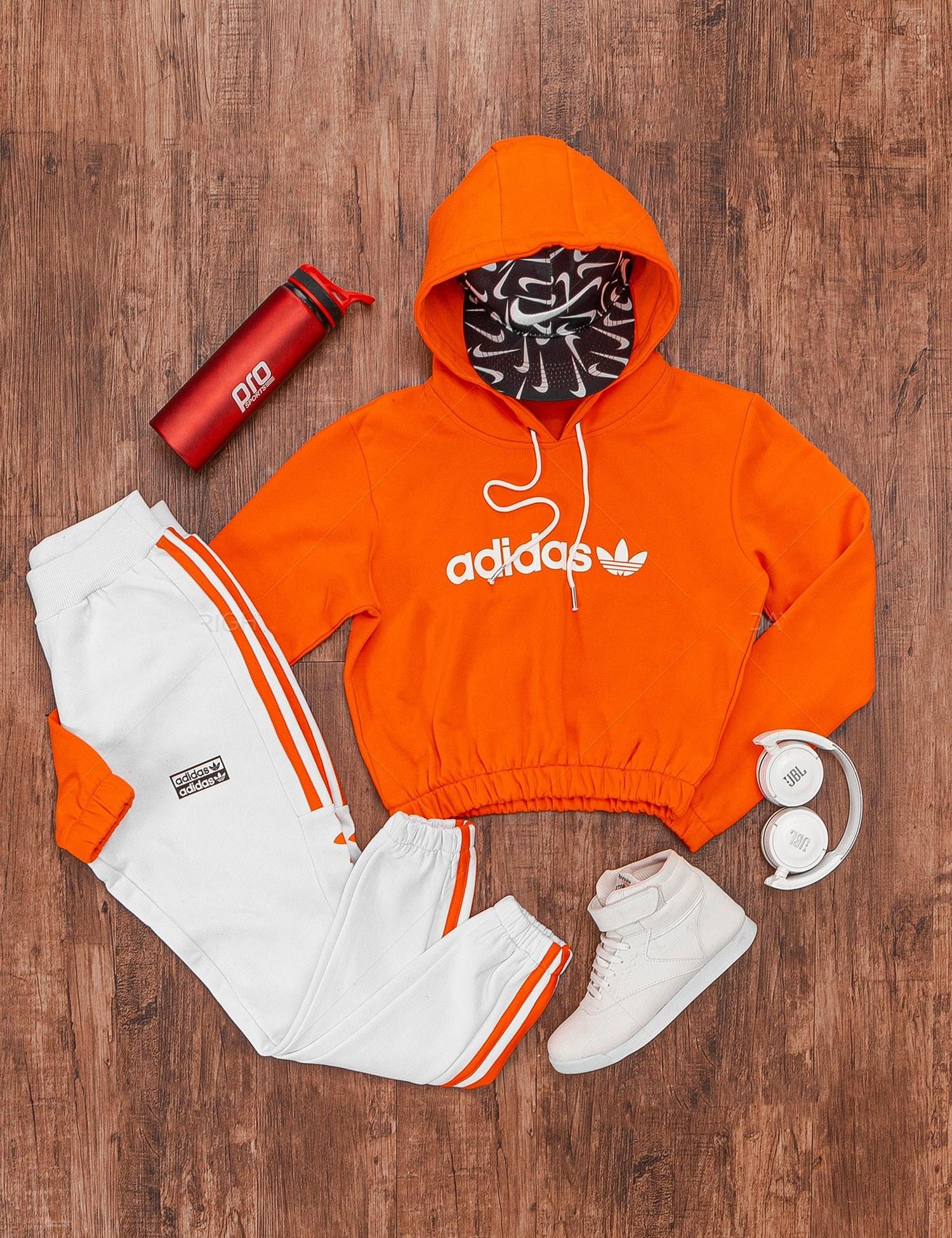 تصویر ست نیم تنه و شلوار زنانه Adidas مدل 17042