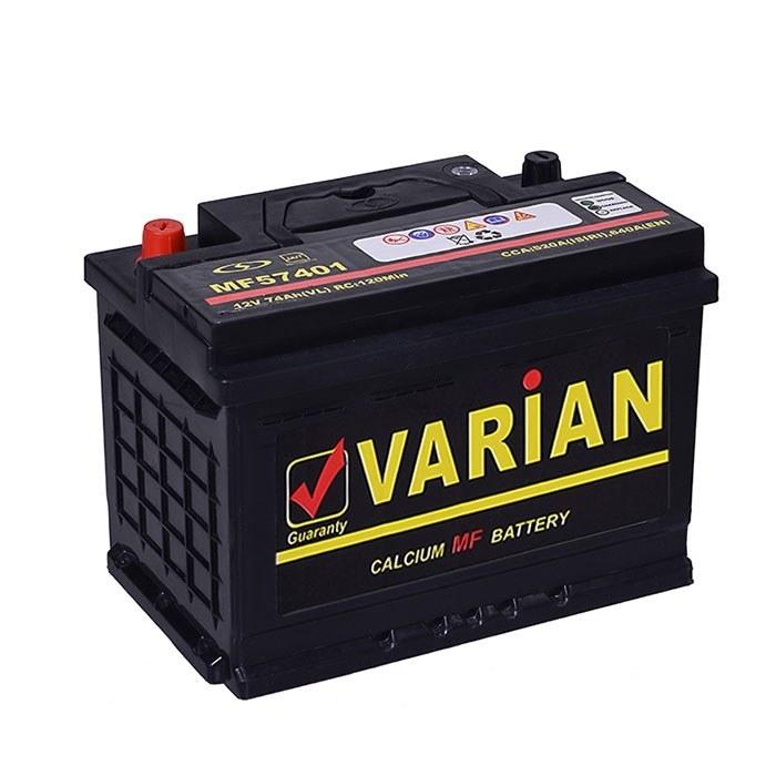 تصویر باتری ماشین 74 آمپر اتمی واریان (صبا)