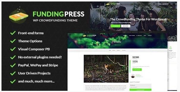 تصویر قالب وردپرس Funding Press