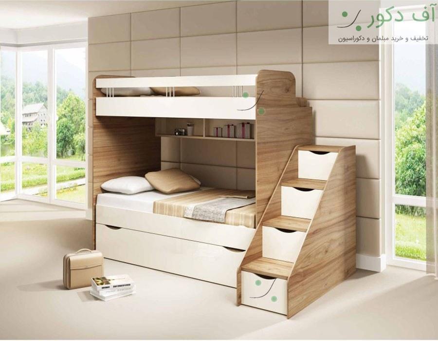 تخت خواب دو طبقه زنبق |