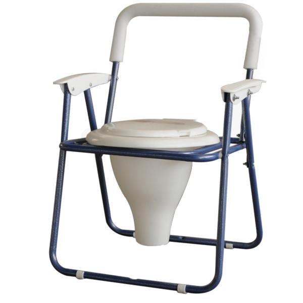 تصویر توالت فرنگی تاشو مبله