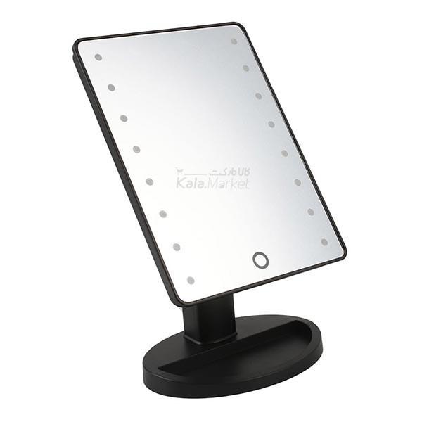 عکس آینه آرایش چرخشی با چراغ LED صفحه لمسی-مشکی (Large Led Mirror)  اینه-ارایش-چرخشی-با-چراغ-led-صفحه-لمسی-مشکی-large-led-mirror