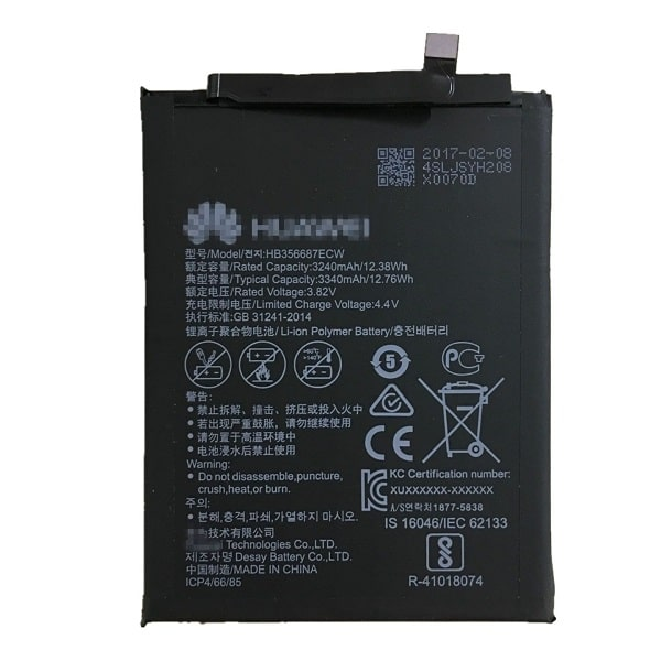 باتری گوشی هواوی Huawei Mate 10 Lite مدل HB356687ECW