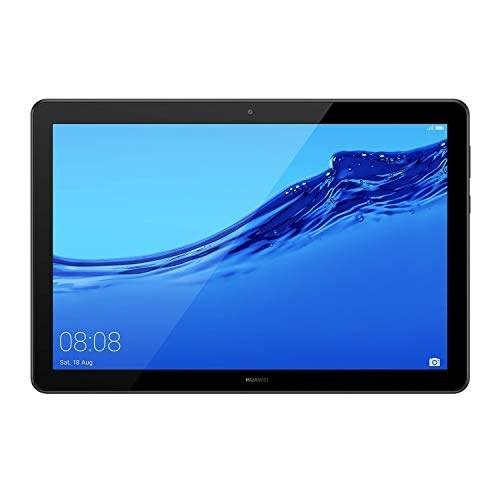 تبلت Huawei MediaPad T5 با نمایشگر 10.1 اینچی IPS FHD ، Octa Core ، بلندگوهای تنظیم شده هارمن کارون ، فقط WiFi ، 2 گیگابایت 16 گیگابایت ، سیاه (ضمانت ایالات متحده)