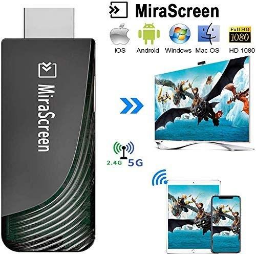 تصویر WiFi Display Dongle ، گیرنده نمایش بی سیم iBosi چنگ گیرنده های صوتی بی سیم پشتیبانی از Full HD 1080P برای iOS