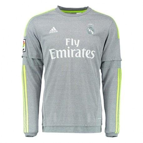 پیراهن دوم رئال مادرید آستین دار Real Madrid 2015-16 Away Soccer Jersey