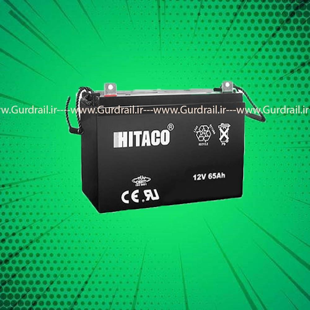 تصویر باتری یو پی اس 12 ولت 65 آمپر هیتاکو مدل HB65-12 - عدم تحویل داغی باتری فرسوده