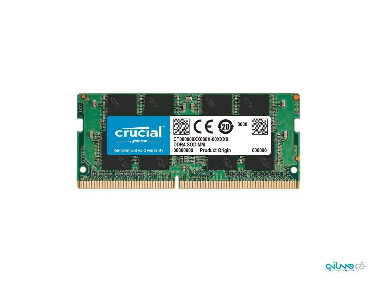 عکس رم لپ تاپ DDR4 تک کاناله 2666 مگاهرتز CL19 کروشیال ظرفیت 4 گیگابایت  رم-لپ-تاپ-ddr4-تک-کاناله-2666-مگاهرتز-cl19-کروشیال-ظرفیت-4-گیگابایت
