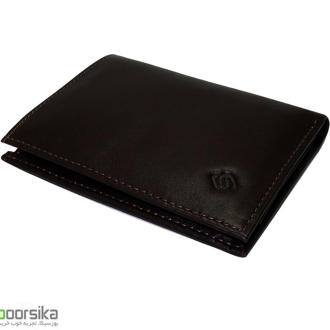 کیف پول کتابی چرم سورنا مدل SurenaWallet B1004