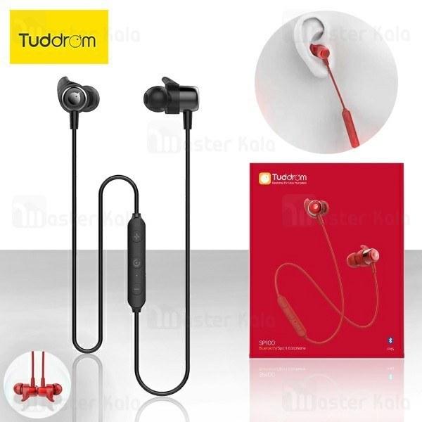 هندزفری بلوتوث تادروم Tuddrom SP100 Bluetooth Earphone IPX5 طراحی مگنتی + کیف